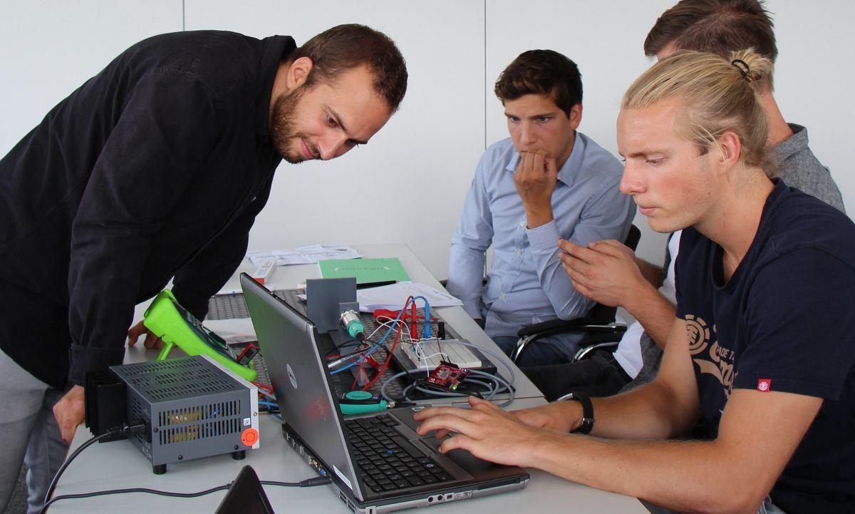 linkIT Hochschulgruppe zum Industrie 4.0 Workshop bei uns