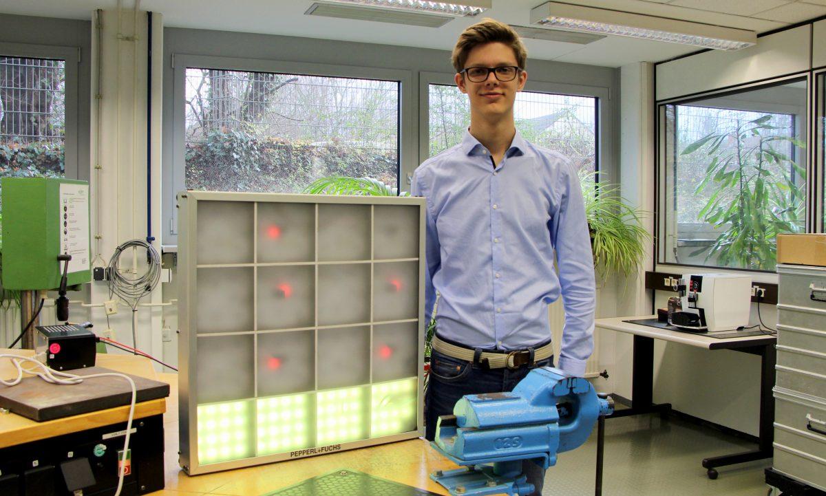Studentenprojekt: Fabian konstruiert Reaktionsspiel