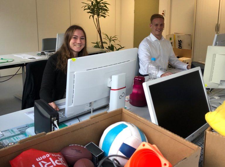 Einführungsseminar 2019: Carina und Max bei den letzten Vorbereitungen