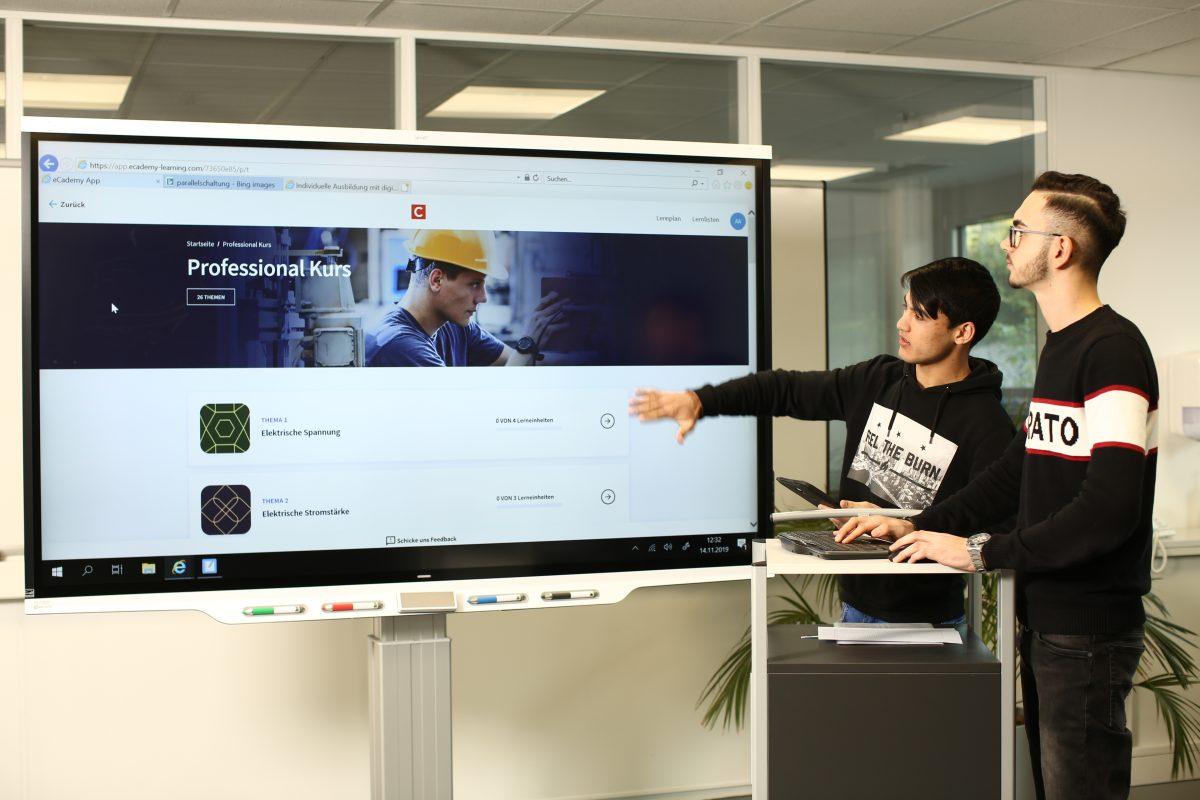 Neuer Ausbildungsbereich – optimales Lernen in digitalem Umfeld